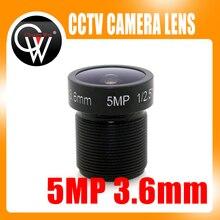 10pcs/lot 5MP IR 3.6mm lens1/2.5″ CCTV MTV Board Lens CCTV Lens HD camera M12 Mount For 720P / HD 1080P IP Camera CCTV Camera