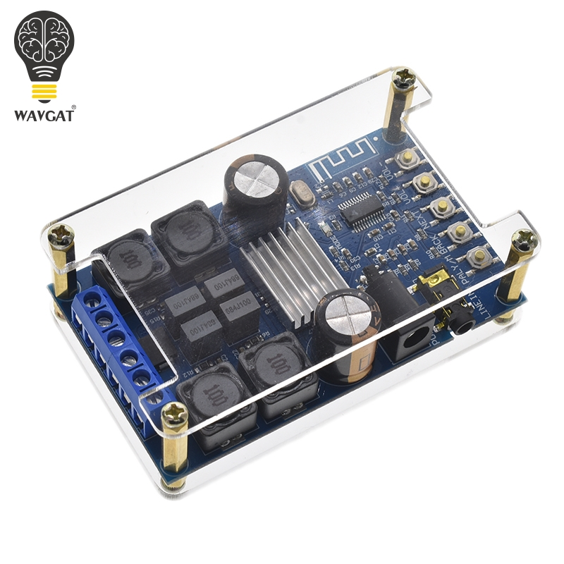 WAVGAT TPA3116 50W+50W 2.0 Audio Wireless Bluetooth Stereo Digital power amplifier Board With ShellWAVGAT TPA3116 50W+50W 2.0 Audio Wireless Bluetooth Stereo Digital power amplifier Board With Shell