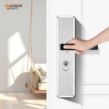 Simple design stainless steel Intelligent semiconductor Fingerprint Lock Electronic biometric fingerprint Door Lock