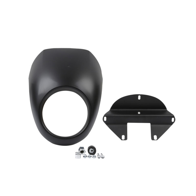 Black Head Light Front Visor Fairing Mask Cover For Harley Sportster Motorcycle Dyna Glide FX XL free shipping black headlight plastic front visor fairing cool mask bezel for 883 xl1200 dyna sportster fx motorcycle