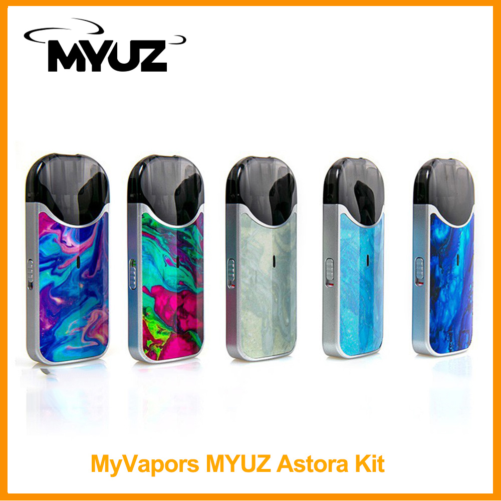 [FR] Original MyVapors MYUZ Astora Pod System Kit Built In 500mAh Battery 2mL Cartridge 10W Wattage For Minifit  E-Cig