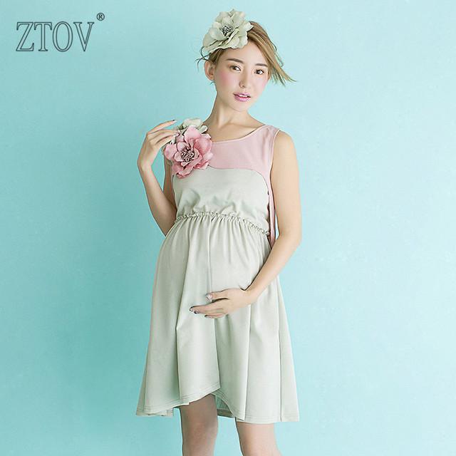 ZTOV Adereços Fotografia de Maternidade Vestido de Maternidade para as mulheres Grávidas fotografia de retrato Foto Atirar luz azul vestido de Gravidez