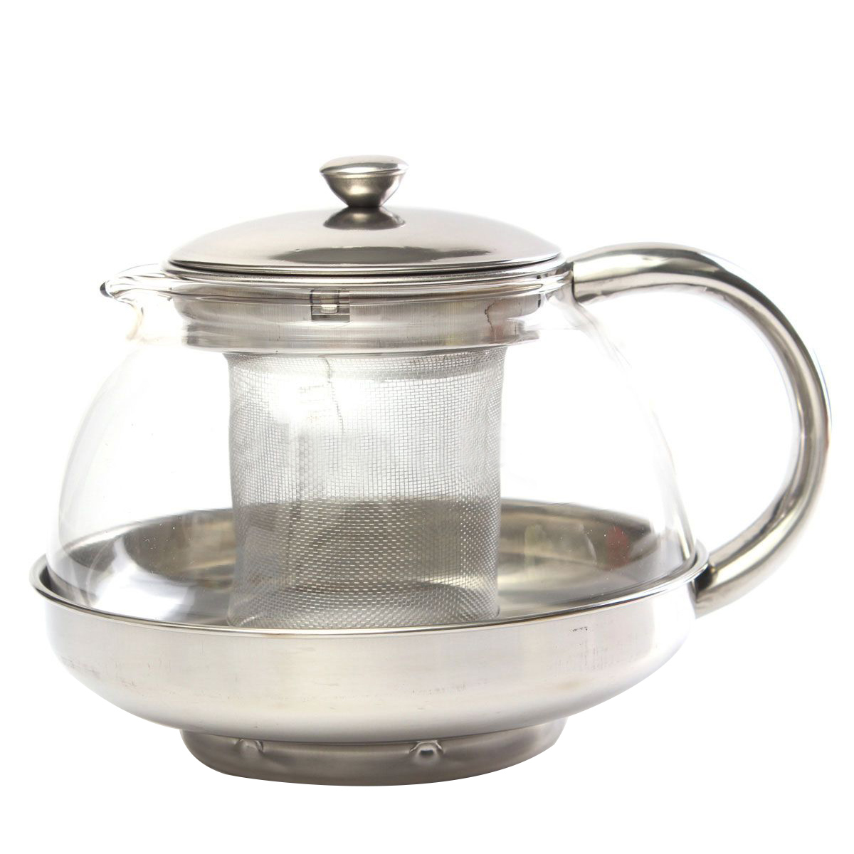 600ML Glass Water Coffee Teapot With Infuser Filter Heat Resistant Stainless Top 1 PC Modern Infuser Teapot adnart flavour it glass water bottle with fruit infuser