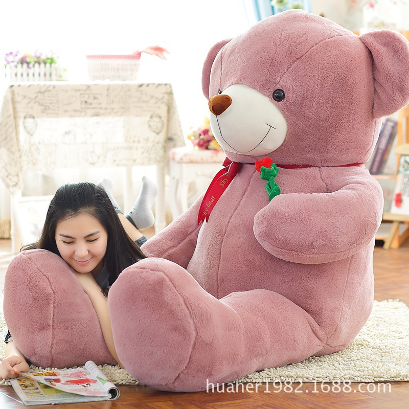 100CM Giant Teddy Bear Plush Toys stuffed Plush toys large size teddy bear Birthday Gifts giant teddy bear plush soft toys doll bear sleep girls gifts birthday kawaii large teddy bear stuffed animal plush toy 70c0426