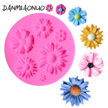 DANMIAONUO Food Grade Flower Silicone Mold Fimo Cake Baking Tools For Cakes Lace Mat A376193