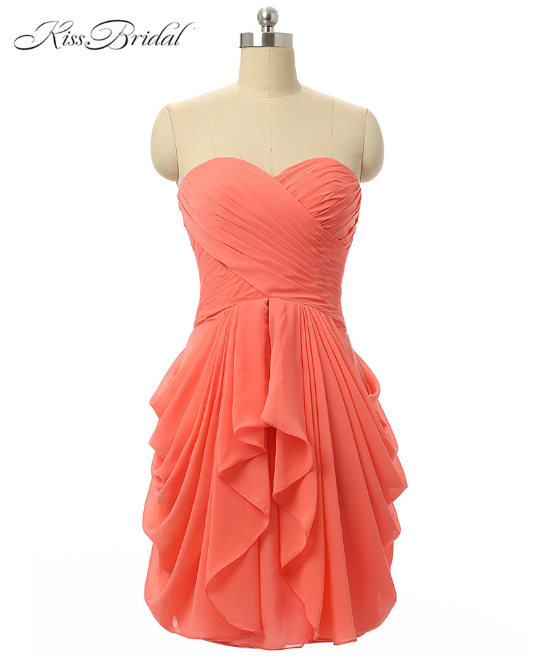 Sexy   Cocktail     Dresses   New Fashion Women's Chiffon Sweetheart Lace-up Evening Gowns Bride Formal Prom   Dresses