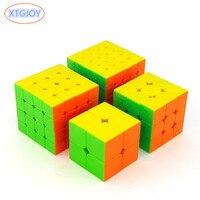 4 stks/set 2*2,3*3,4*4,5*5 Glad Kubus Puzzel Brain Teaser Magico Speed Cubo Hand Spinner Kids Geschenken Educatief Speelgoed voor Kinderen