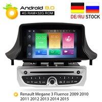 Android 8,0 стерео dvd плеер gps ГЛОНАСС для Renault Megane 3 Fluence 4 ГБ Оперативная память Видео Мультимедиа Радио головного устройства