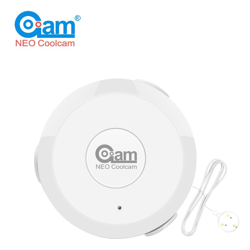 NEO COOLCAM Z Wave Flood NAS-WS01Z Water Leak Alarm Sensor Water Leakage Sensor Z-wave Sensor Alarm Home Automation System EU ve neo coolcam nas wr01ze z wave plus sensor smart home eu power plug z wave repeater extender outlet plug automation alarm system