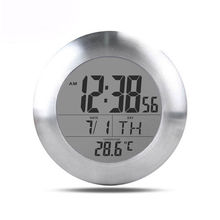 Hot LED Digital Suction Cup Bathroom Wall Clock Waterproof Shower Timer Temperature Clocks Kitchen Plastic