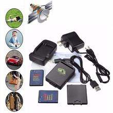 Mini Realtime GPS Tracker And Car Vehicle Tracking Locator Device TK102B with bulit-in Memory + Charger
