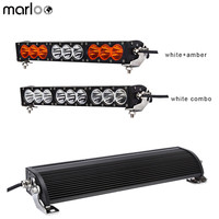 Marloo 16.6 inch Led Offroad Light Bar 12V 24V Automotive 90W Combo Beam work lamp For Jeep Truck Boat AUV ATV Amber White