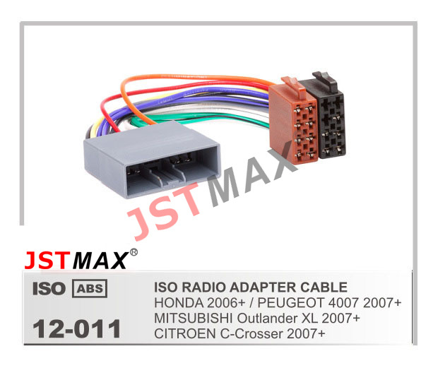 aliexpress com buy jstmax iso radio plug for honda mitsubishi jstmax iso radio plug for honda mitsubishi peugeot 4007 citroen c crosser wire cable wiring