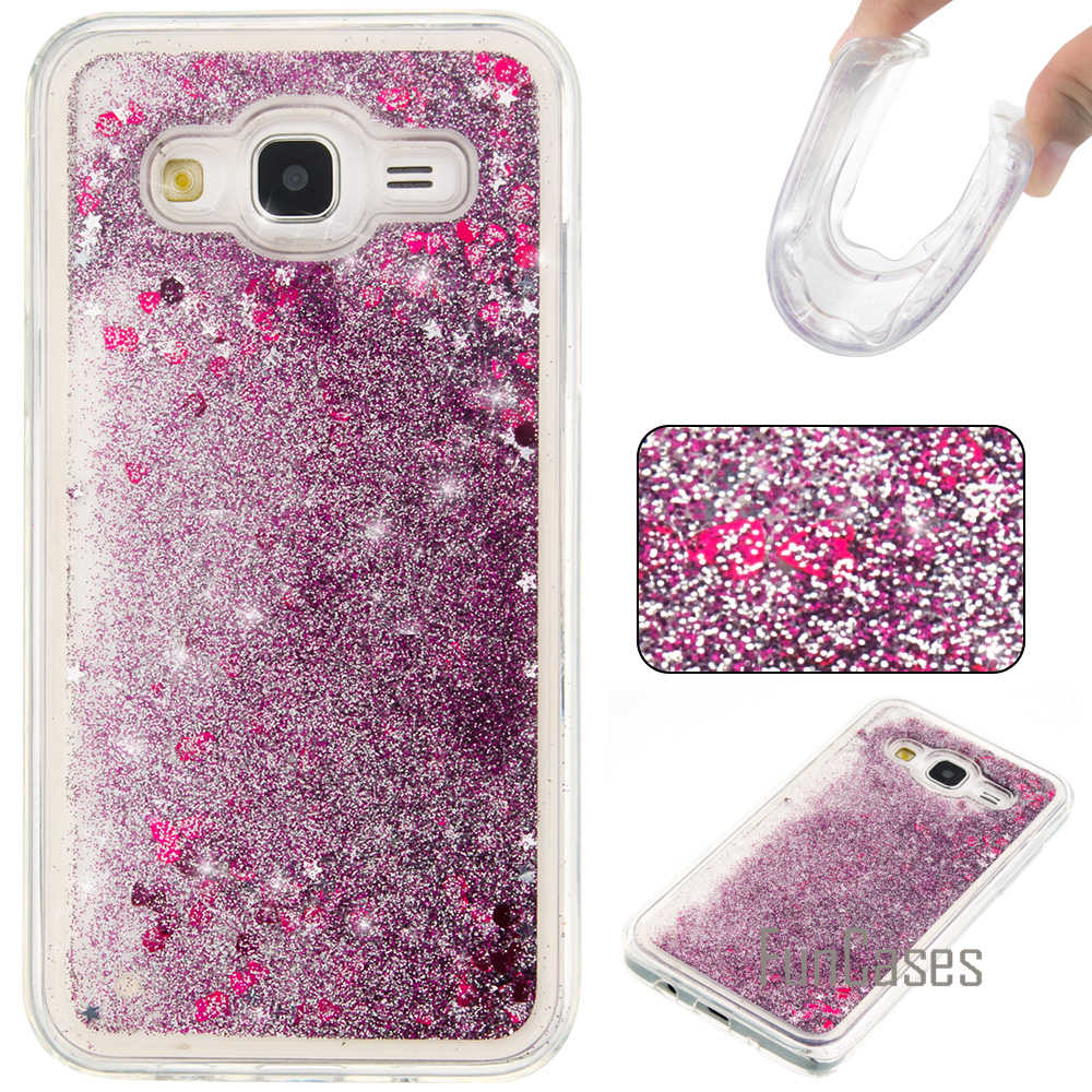 J5 2015 J500 Dynamic Liquid Glitter Case for fundas Samsung J5 2015 Case for coque Samsung Galaxy J5 Case Quicksand Case
