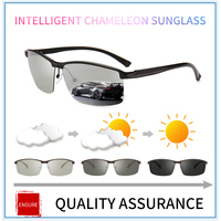 3523547522 2018New Driving Photochromic Sunglasses Men Polarized Chameleon  Discoloration Brand Designer Sun Glasses For Men Oculos De