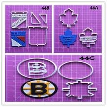 National Hockey League logo Design Custom made 3D Printed Fondant Cupcake Top Kitchen Accessories