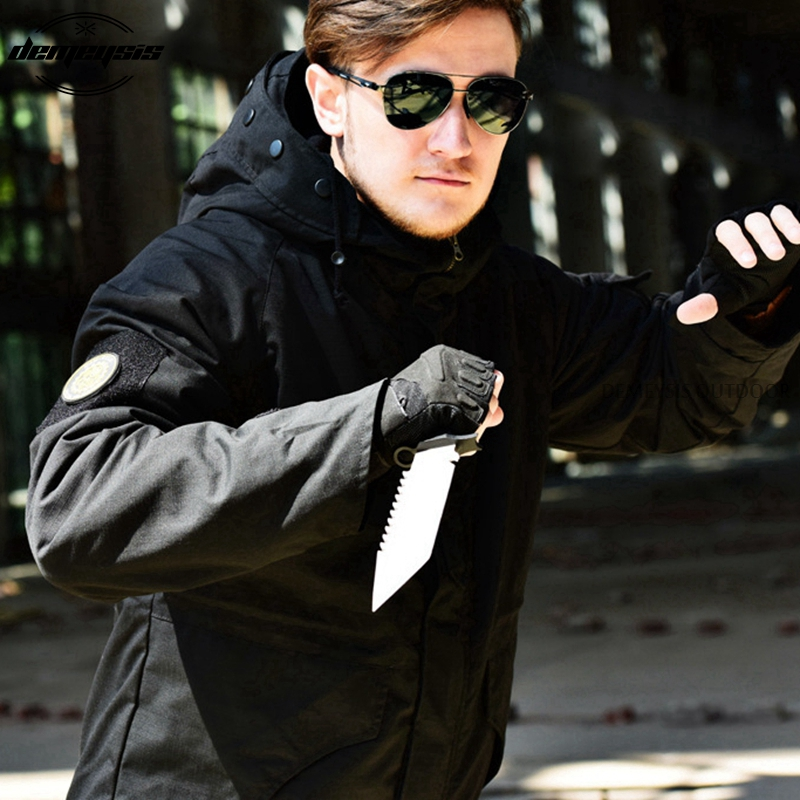 Military Field Jacket Tactical M65 Men Winter Thermal Breathable Waterproof Flight Pilot Coat Hoodie Jacket цена