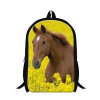 Dispalang Animal Horse Backpacks for Children Printed School Bags for Teenager Girls Lightweight Back Pack Mochilas Boys Bookbag