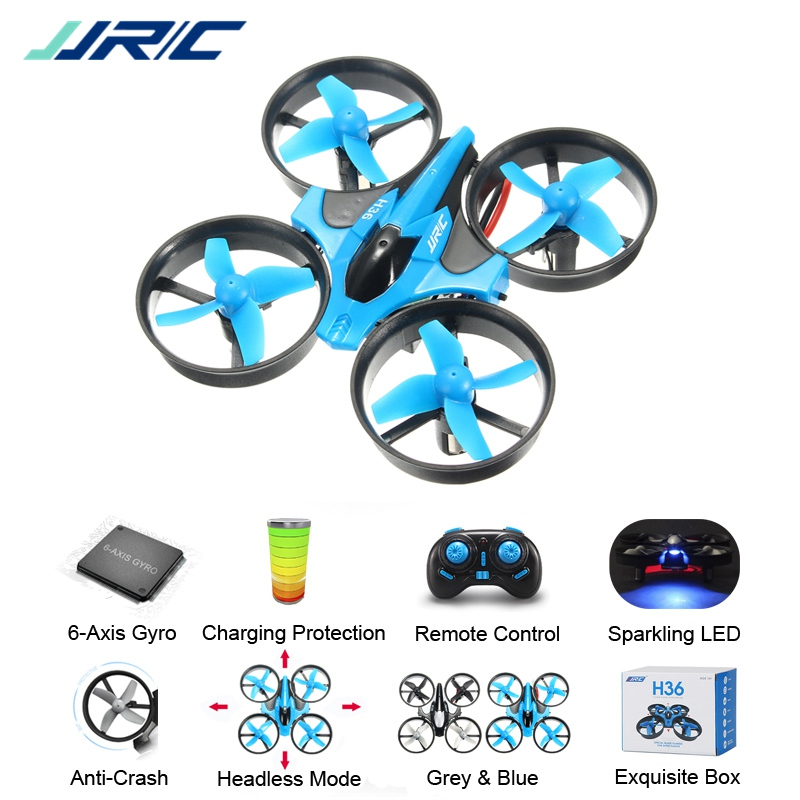 JJR/C JJRC H36 Mini Quadcopter 2.4G 4CH 6-Axis Speed 3D Flip Headless Mode RC Drone Toy Gift Present RTF VS Eachine E010 H8 Mini