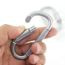 A Forma di D In Alluminio Arrampicata Moschettone A Vite di Blocco Portachiavi Clip di Gancio Appeso Kit Da Viaggio per Escursione di Campeggio Esterno Keys Portachiavi