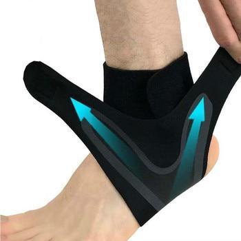 1 pièces Support De Cheville, Élasticité Ajustement Libre Protection Pied Bandage, Entorse Prévention Sport Fitness Bande de Garde