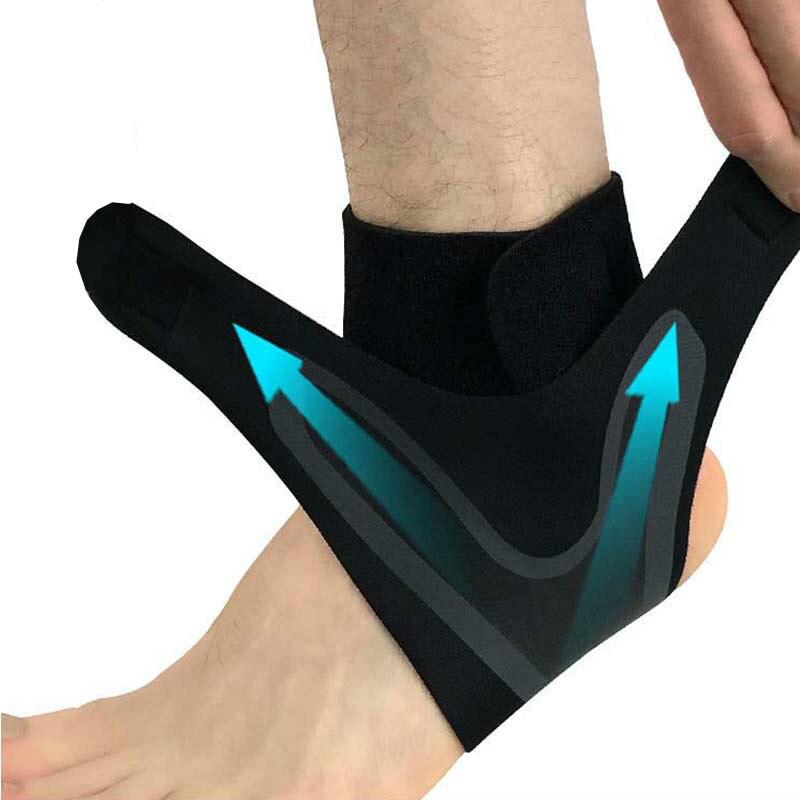 1 шт фиксирующая поддержка лодыжки, эластичность свободный регулировки защиты повязка на ногу, профилактика растяжение Спорт Фитнес Защитн...