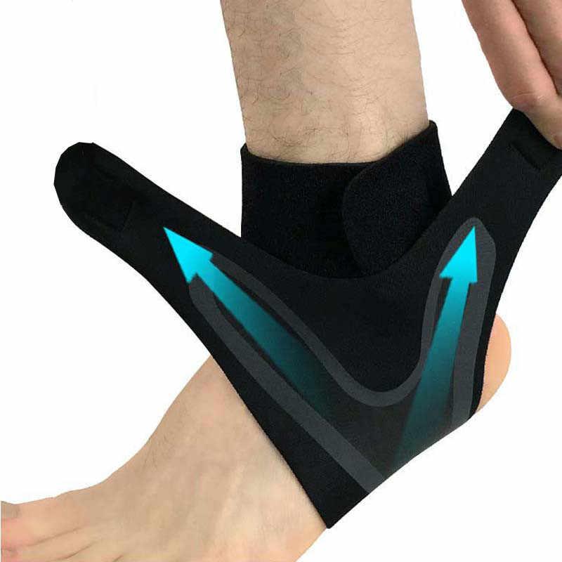 1 個足首のサポートブレース、弾性送料調整保護足包帯、捻挫防止スポーツフィットネスガードバンド