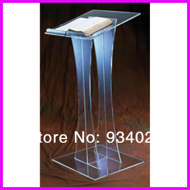 Stylish Durable free shipping Contemporary Acrylic Lectern church pulpit free shipping organic glass pulpit church acrylic pulpit of the church
