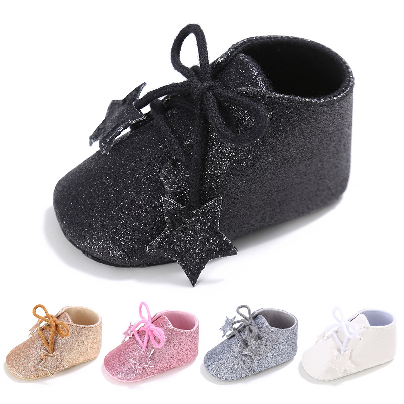Newborn Baby Boys Girls First Walkers Baby Moccasins Shoes Soft Cotton Soled Laceup Footwear Baby Sneakers 0-18 Month