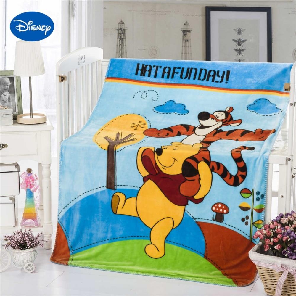 R16842 34 De Descontowinnie The Pooh Tigger Impresso Flanela Cobertor Jogar Disney Personagem Dos Desenhos Animados 100140 Cm Bebê Crianças Berço