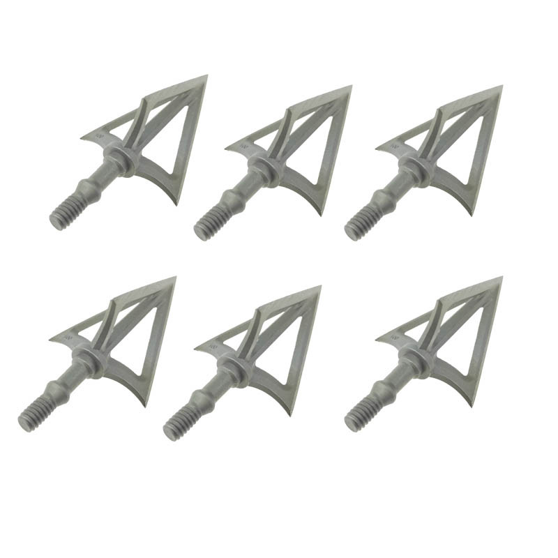 6PCS G5 Stainless Steel Montec Broahdeads Striker Fixed Blade Arrowheads 100Grain for Recurve Bow Compound Bow Crossbow Hunting