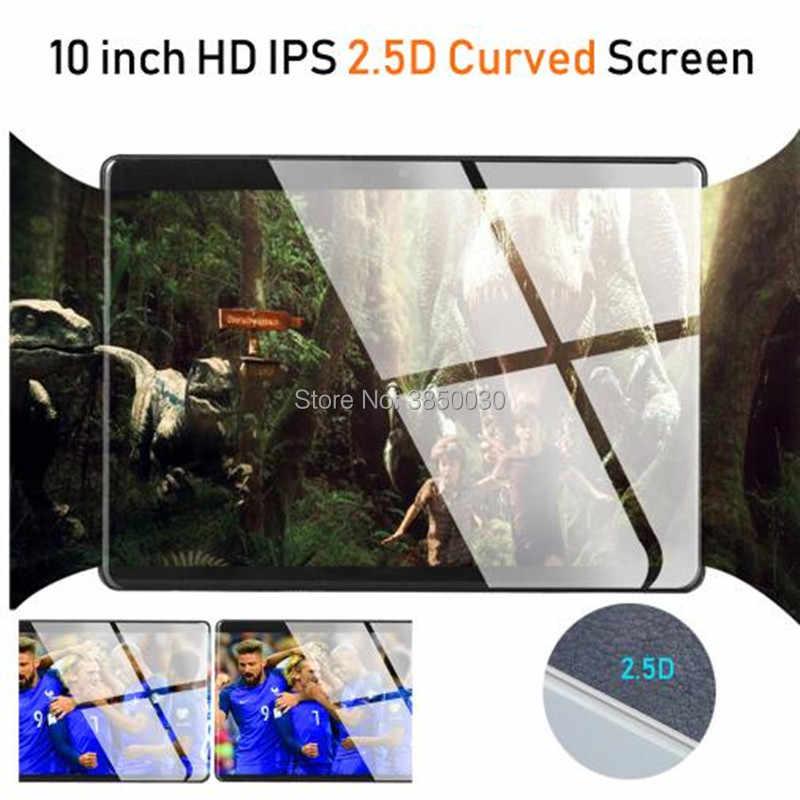 تابلت 10 بوصة زجاجي 2.5D فائق الخفة نظام أندرويد 9.0 ثماني النواة 6 جيجابايت رام 64 جيجابايت روم 8 النوى 1280*800 IPS شاشة تابلت 10.1 + هدية
