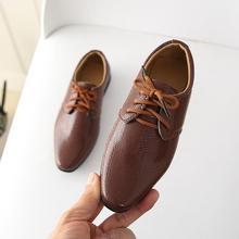 Обувь для новорожденных мальчиков в британском стиле; детская обувь; однотонная кожаная официальная обувь принцессы для вечеринок; Повседневная Свадебная обувь