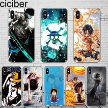 ciciber Anime One Piece Case For iPhone X XS Max XR 7 8 Plus 6 6S 5 5S SE Phone for 11 Pro Soft TPU Coque