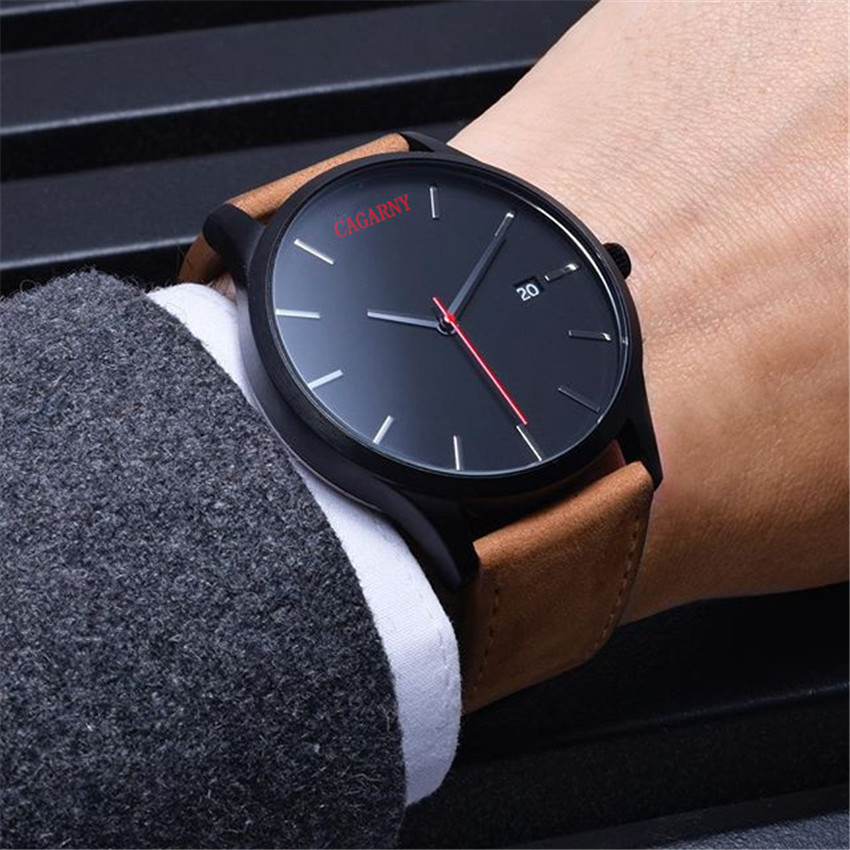 2016 Casual Clock Watches Brand Famous Leather Men Military Wrist Watches Men Sports waterproof Quartz Watch