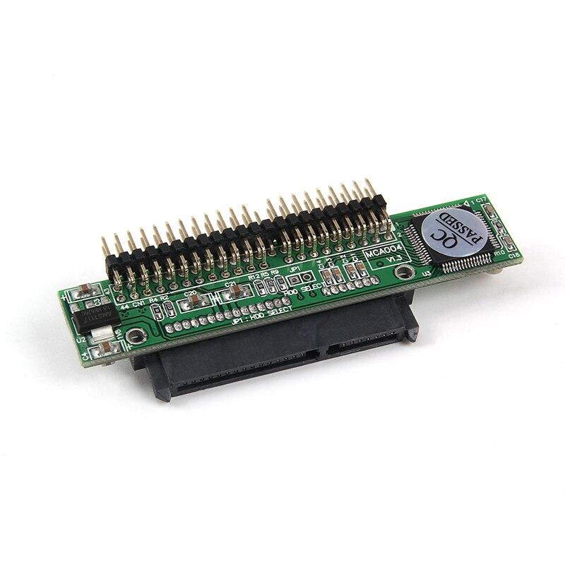 Adaptateur d'ordinateur portable SATA vers IDE, série HDD de 2.5 pouces, conversion de disque dur ATA ou SSD en 44 broches, Port PATA mâle