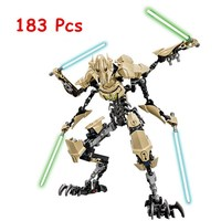 KSZ 714 Star Wars 7 General Grievous Model Building Blocks Classic Enlighten DIY Figure Toys For
