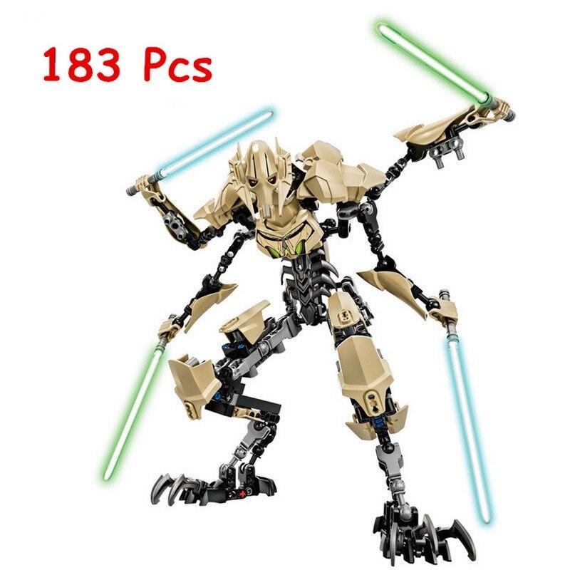 KSZ 714 Star Wars 7 Allgemeine Grievous Modell Bausteine Klassische Erleuchten DIY Abbildung Spielzeug Für Kinder Kompatibel Legoe
