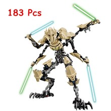 KSZ 714 Star Wars 7 General Grievous Model Building Blocks Classic Enlighten DIY Figure Toys For Children Compatible Legoe