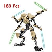 KSZ 714 Star Wars 7 General Grievous Model Building Blocks Classic Enlighten DIY Figure Toys For