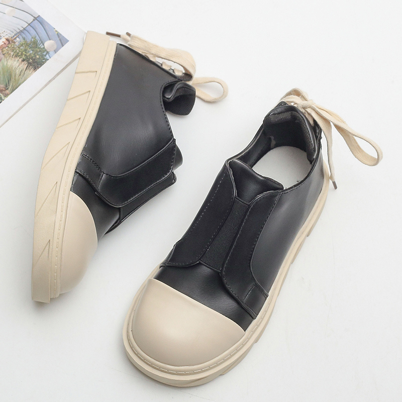Moxxy Canvas Shoes Women Women Black Sneakers 2018 Fashion Back lace-up Leather  Women Shoes Solid Casual Shoes Chaussure Femme b3efbd265910