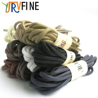 YJRVFINE 1 Pair Premium Thick Waxed Dress Shoe Laces Shoelaces Round Waxed Cotton Shoelaces Leather Boots