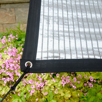 Reflective Aluminum Foil Sunscreen Insulation Sunscreen Silver White Roof Balcony Sunshine Room Horticultural Cooling Net