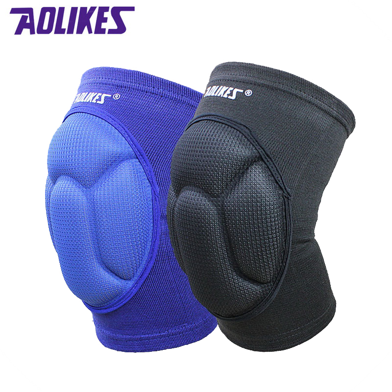 AOLIKES 1 pair Sponge knee pads for dancing basketball volleyball rodilleras sliders patella guard protetor support kneepad