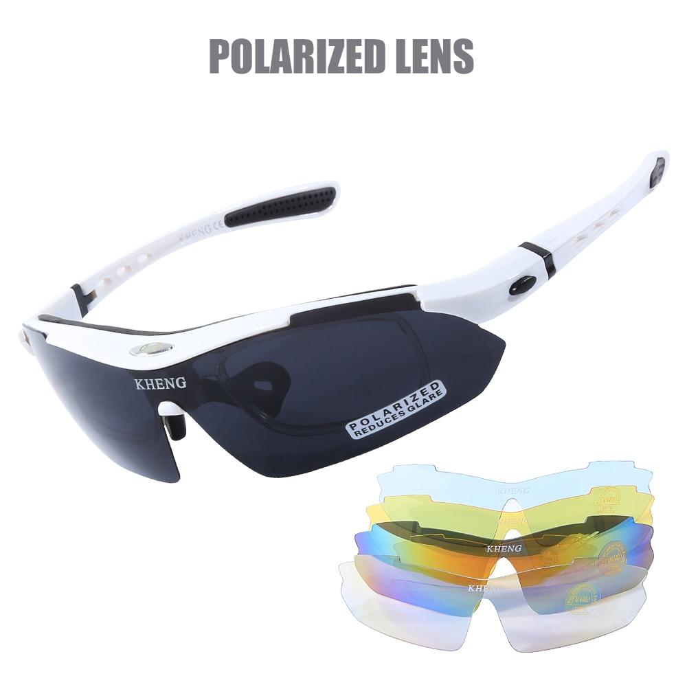 Polarized Cycling Glasses 5 Lens Clear Bike Glasses Eyewear UV400 Proof Outdoor Sport Sunglasses Oculos Gafas Ciclismo Men Women