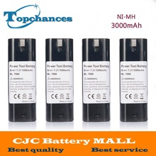 4PCS 7.2V 3000mAh NI-MH Power Tool Battery For MAKITA 7033 7002 7000 632003-2 191679-9 192532-2 Cordless Drill tool Battery