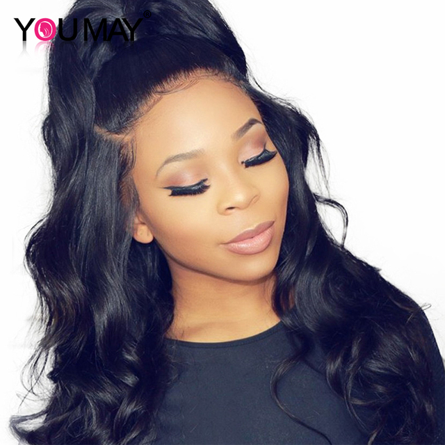 250 Percents Denstiy Lace Front Human Hair Wigs  13x6 Pre Plucked Brazilian Body Wave Lace Front Wigs For Women You May Remy Hair by You May