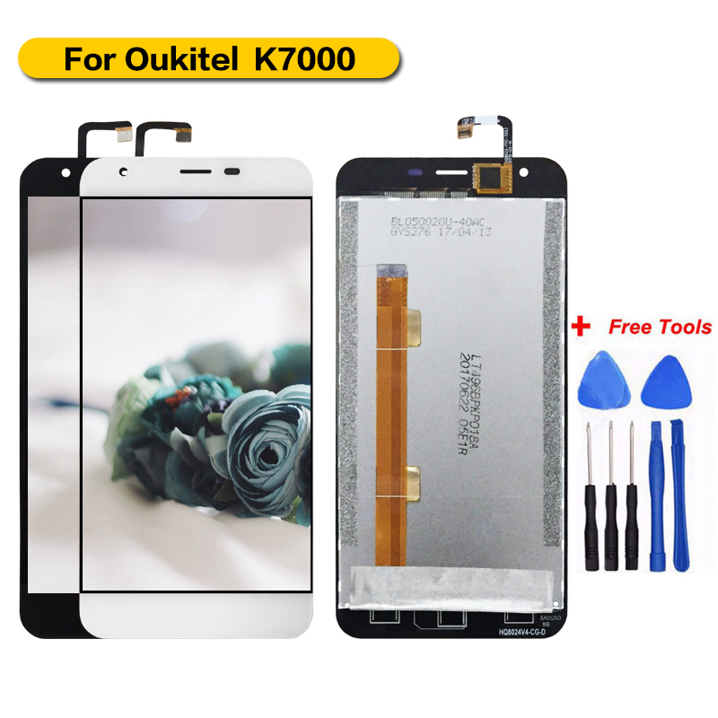 For <font><b>Oukitel</b></font> <font><b>K7000</b></font> Display+Touch Screen Assembly Screen For <font><b>Oukitel</b></font> <font><b>K7000</b></font> 100% Tested with Free Tools image