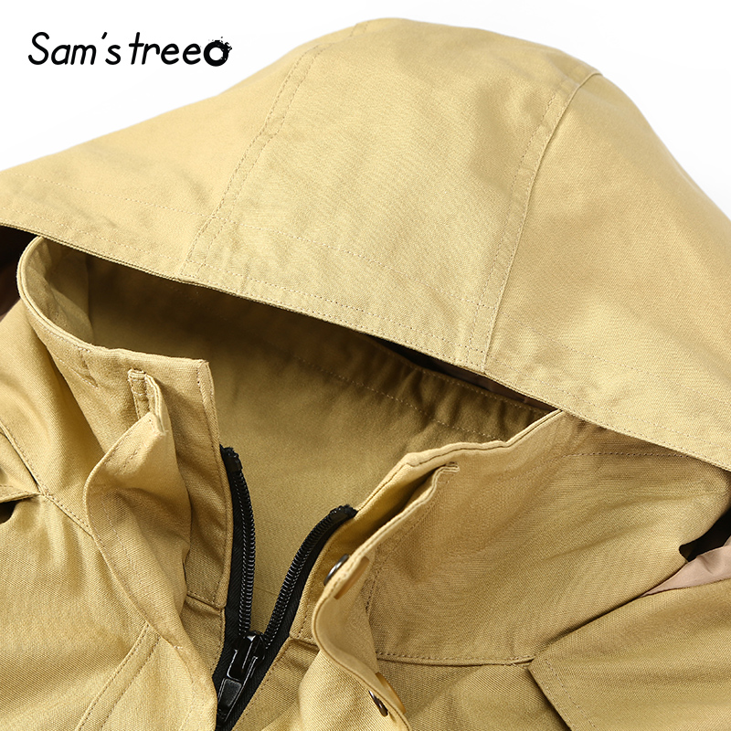 En Rembourré Solide D'hiver Style Femmes Capuchon Coton Black Safari yellow Lâche Manteaux À Samstree De Couleur Oversize ApwRq7