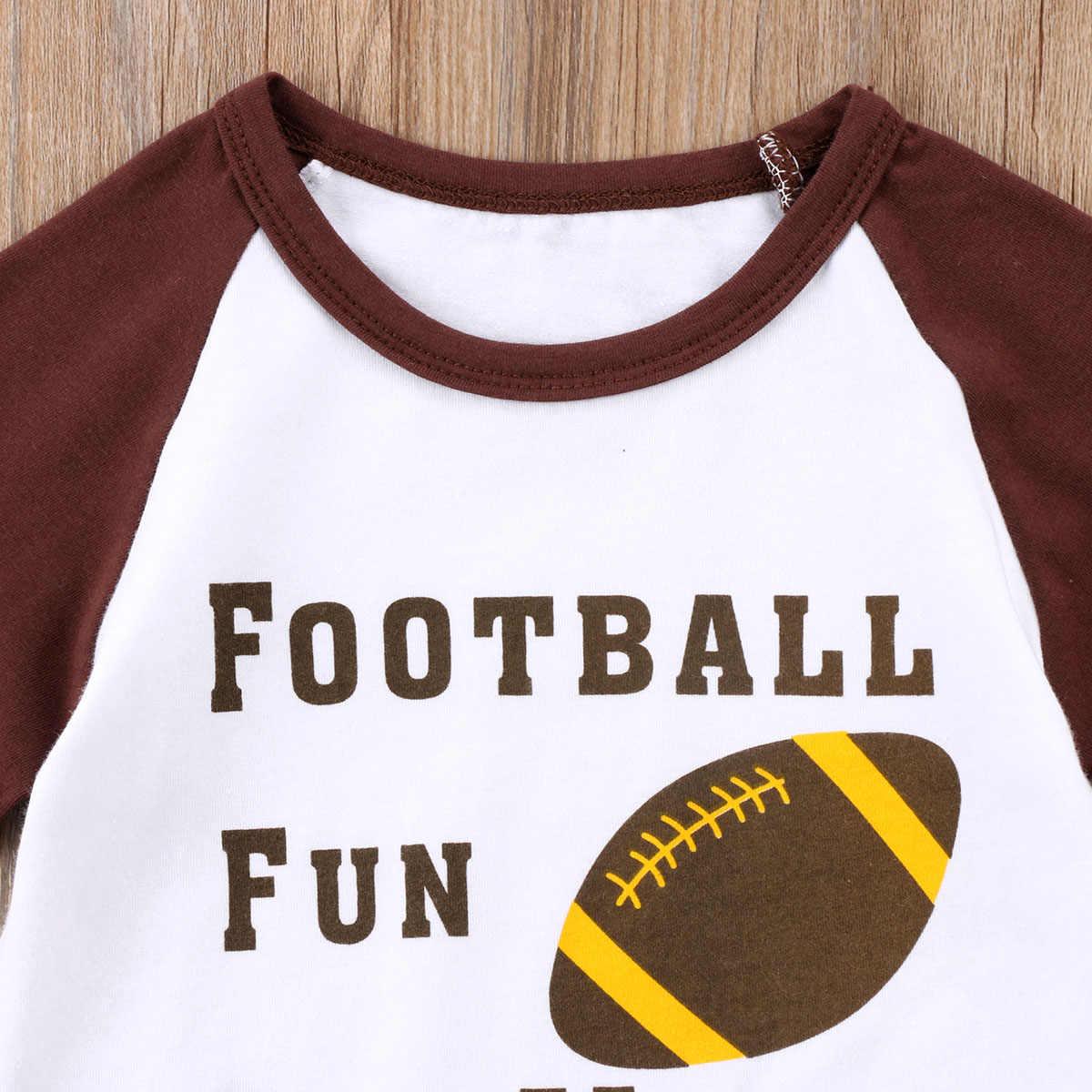 2018新しいファッション子供フリルtシャツ幼児キッズベビー女の子サッカーラグビー長袖トップtシャツカジュアル女の子プルオーバートップス